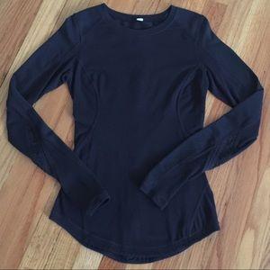 Lululemon Black Long Sleeve Top Size 4